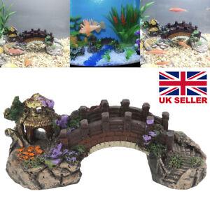 UK Fish Tank Coral Reef Boat Castle Bridge Decor Accessories Aquarium Ornament