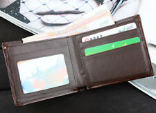 Men's Leather Bifold ID Card Holder Purse Wallet Billfold Handbag Slim Clutch US