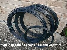 FENCING WIRE 2.6mm thick x 50m BLACK PVC COATED suits chain wire or garden use