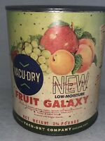 VINTAGE NOS Unopened 1960s 2 3/4 lbs. Vacu-Dry FRUIT GALAXY Can--Oakland, CA