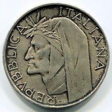 1965 Repubblica Italiana 500 lire argento Dante silver belle sfumature ossido