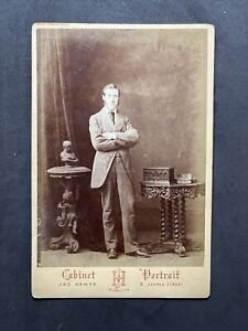 Victorian Cabinet Card: Dapper Gent 20 Years Old Dated 1876: Hawke Plymouth