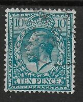 SG428-10d.Turquoise-Blue. VFU With Fresh Colour & Full Perfs. Cat.£40. Ref.0/104