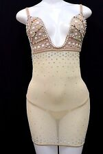 Exotic Dancer Stripper Dancewear Clubwear Pole Dancer Bra Dress w/Rhinestones