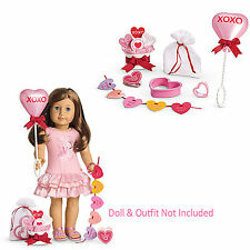 "American Girl MY AG FRIENDS ARE SWEET SET for 18"" Dolls Valentine Retired NEW"