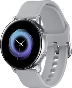 Samsung Galaxy Watch Active SM-R500 silber Android Smartwatch Aluminium kabellos