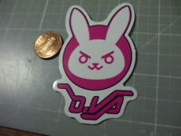 GLOSSY PINK RABBIT Sticker / Decal Skateboard Phone Luggage NEW