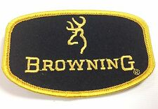 BROWNING BLACK GOLD SEW ON CLOTH BADGE SHOTGUN SHOOTING VEST PATCH