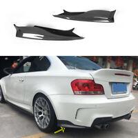2xCarbon Heck Stoßstangen Splitter Flaps für BMW 1ER E82 1M 11-12 Hinten Spoiler