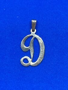 14K Yellow Gold Letter D Charm