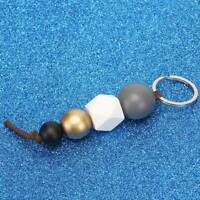 Daily Women's Key Ring 14CM Handmade Gift Bead Lady 1 Pc Wood Beads Keychains AA