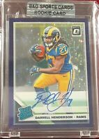DARRELL HENDERSON AUTO 2019 DONRUSS OPTIC PURPLE STARS 39/50 RATED ROOKIE RAMS