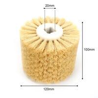 "4.7"" Sisal Wire Drawing Abrasive Wheel Brush Drum Polishing Tool 120x100x20mm"