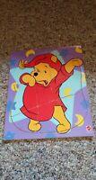 Vintage Disney Mattel Winnie the Pooh Wood Puzzle Board 8 Pieces Baby Toddler