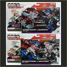 KRE-O Transformers Autobot Rachet Soundwave Optimus Megatron 4 Figure Set New