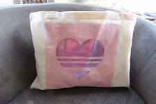 Atmosphere Cream Tote Bag with Pink Metallic Heart Print new with tags