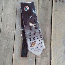 Steven Harris Mens Tie Black Eye Chart Novelty Print Optometrist 100% polyester