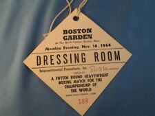 1964 Cassiuss Clay Pass Ticket Vs Sonny Liston Boston Garden Mt Dressing Room Ca
