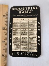Vtg 1935 Industrial Morris Plan Bank Detroit Pocket Calendar Thin Card Stock