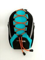Official Nintendo DS Teal & Black Travel Case Carry Bag Pouch with Strap Clip