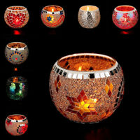 Glass Mosaic Candle holder Handmade Home Decor Romantic Colorful Candlestick New