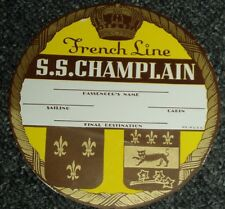 DEALERS LOT 3 1930's FRENCH LINE S.S. CHAMPLAIN LARGE VINTAGE STEAMSHIP LUGGAGE