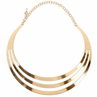 Fashion GOLD SILVER Chain Choker Chunky Statement Bib Collar Jewellery Necklace