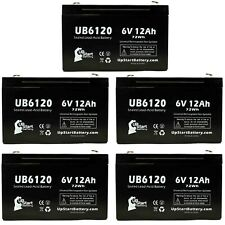 5x 6V 12Ah Sealed Lead Acid Battery For INTERSTATE BATTERIES BSL0955 UB6120
