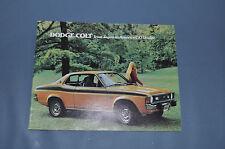 1974 Dodge Colt Sales Brochure 2 4 Door Coupe Hardtop Wagon