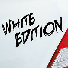 Voiture Autocollant White Edition Moto Car Tuning Sticker DUB OEM JDM 666