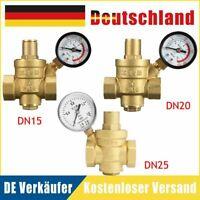 """1/2"""" Dn15 3/4"""" Dn20 Dn25 Druckminderer Druckregler FüR Wasser Manometer"""