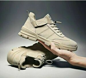 New Men's Sneakers Sport Casual Leather Athletic Shoes Men's Shoes Running Shoes