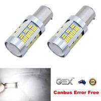 BAU15S 105 LED Canbus Super Bright WHITE Stop Tail Reverse Lights Bulb PY21W AU