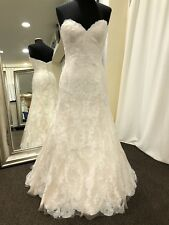 Wtoo 15130 Size 12 Oatmeal Color Nwt Lace Wedding Dress