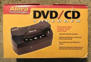 Alera Desktop CD DVD Disc Shredder - Heavy Duty for Electronic Media - Brand New