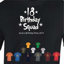 18th Niñas escuadrón regalo de cumpleaños Prenda para el torso Camiseta Hombre Mujer Camiseta Impresión Nombre Personalizado