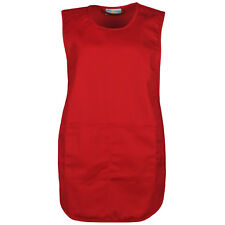 Ladies Cleaning Apron Womens Tabard Catering Tabbard Work Kitchen Overall Lot