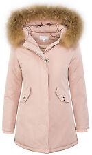 Damen designer winter jacke parka outdoor jacke damenjacke echtfell kapuze D-204