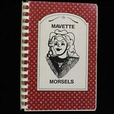 Vintage 1990 Mavette Morsels Cookbook Booster Club Marshall Texas