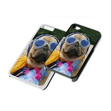 Pug Dog Funny Phone Case Cover for iPhone 4 5 6 7 iPod iPad Galaxy S4 S5 S6 S7