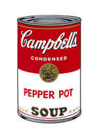 Soup Can Series #1 Pepper Pot by Andy Warhol A2 High Quality Canvas Print