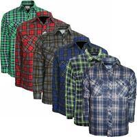Mens Thick Padded Quilted Check Lumberjack Shirt Warm Winter Big 3XL 4XL 5XL