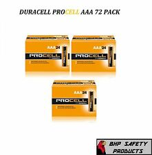 AAA DURACELL PROCELL PROFESSIONAL ALKALINE BATTERIES 72 PACK (72 BATTERIES)