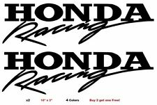 "Honda Racing Decal Stickers Set of (2) Large 10"" Mugen JDM Spoon Civic Accord"