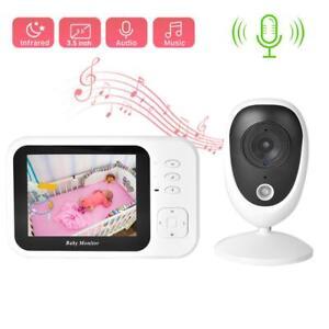 Wireless Digital Baby Monitor IR Night Vision Intercom Camera Temperature Sensor