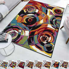 New Luxury Living Room Area Rug 120x170 cm Modern Multicolor Abstract Carpet UK
