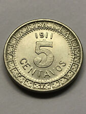 1911 Mexico 5 Centavos Wide Date XF++ #11149