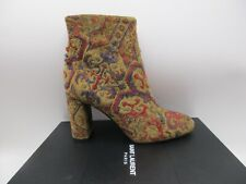 Saint Laurent LouLou 95 Zip Boots Booties Safran Orange Carpet 39.5