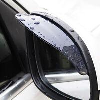 2* Car Rear View Side Mirror Rain Board Eyebrow Guard Sun Visor Black Universal