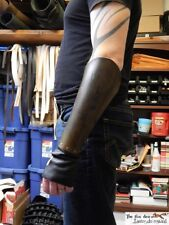 Gladiator spartacus leather bracer with hand protection and battle damage. Larp